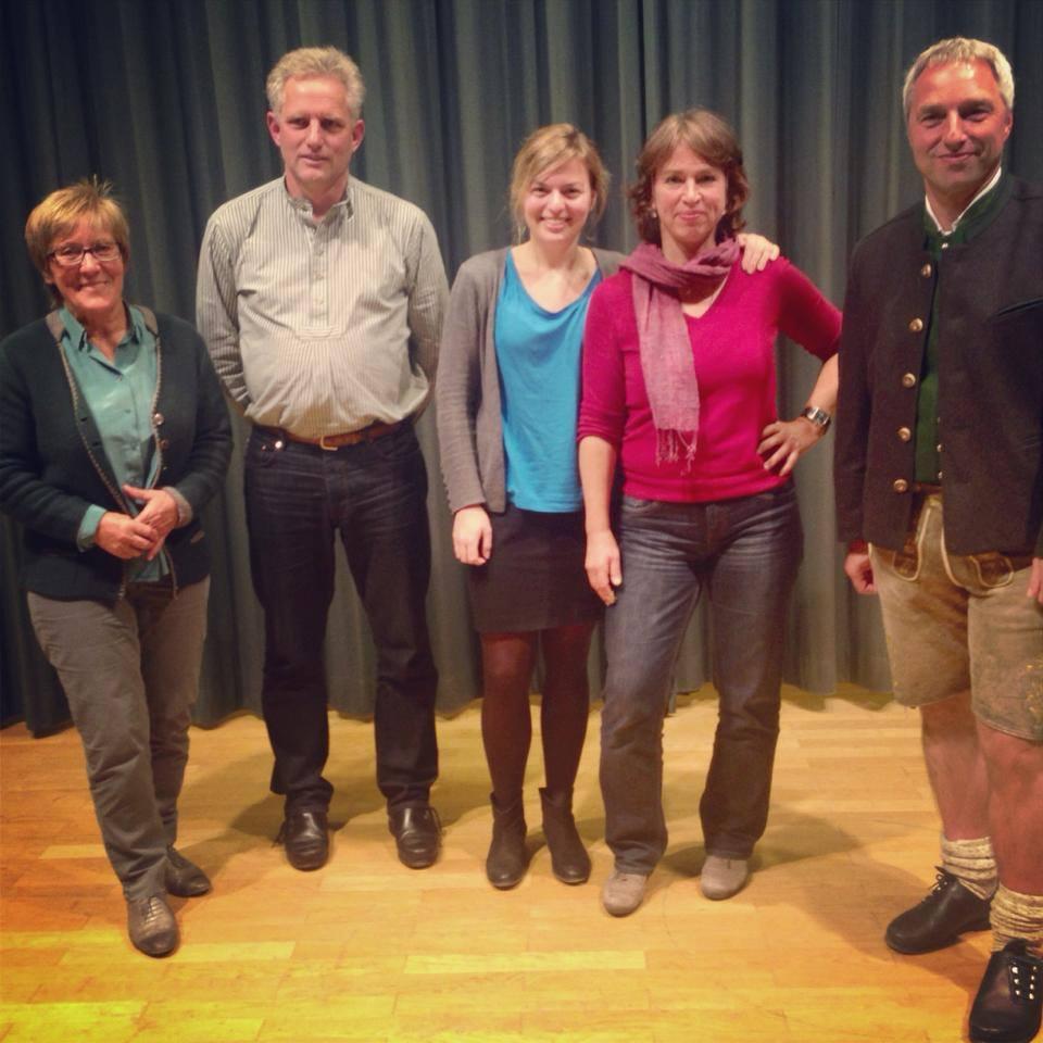 (v.l.n.r.) Evi Brundobler-Mittermaier, Stefan Schneider, Katharina Schulze, Gisela Sengl, Herbert Fritzenwenger