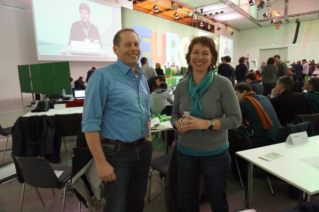 Mit Dietmar Johnen, wie ich Sprecher der BAG Landwirtschaft