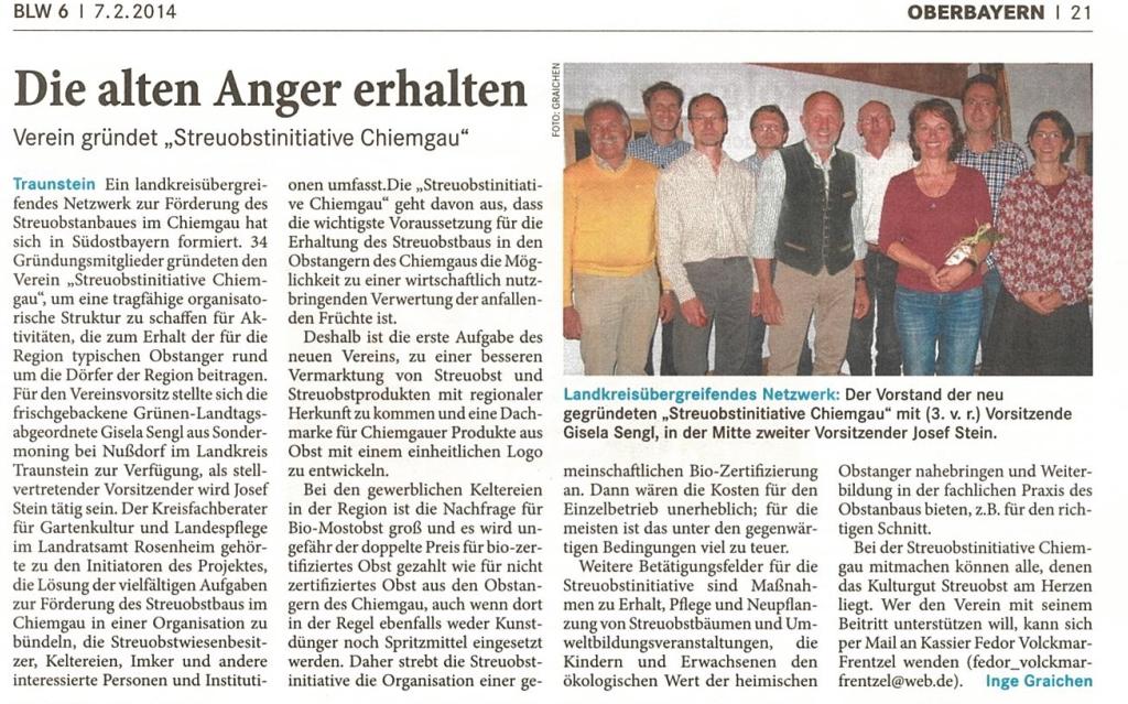 Bayerisches Landwirtschaftliches Wochenblatt 6/2014